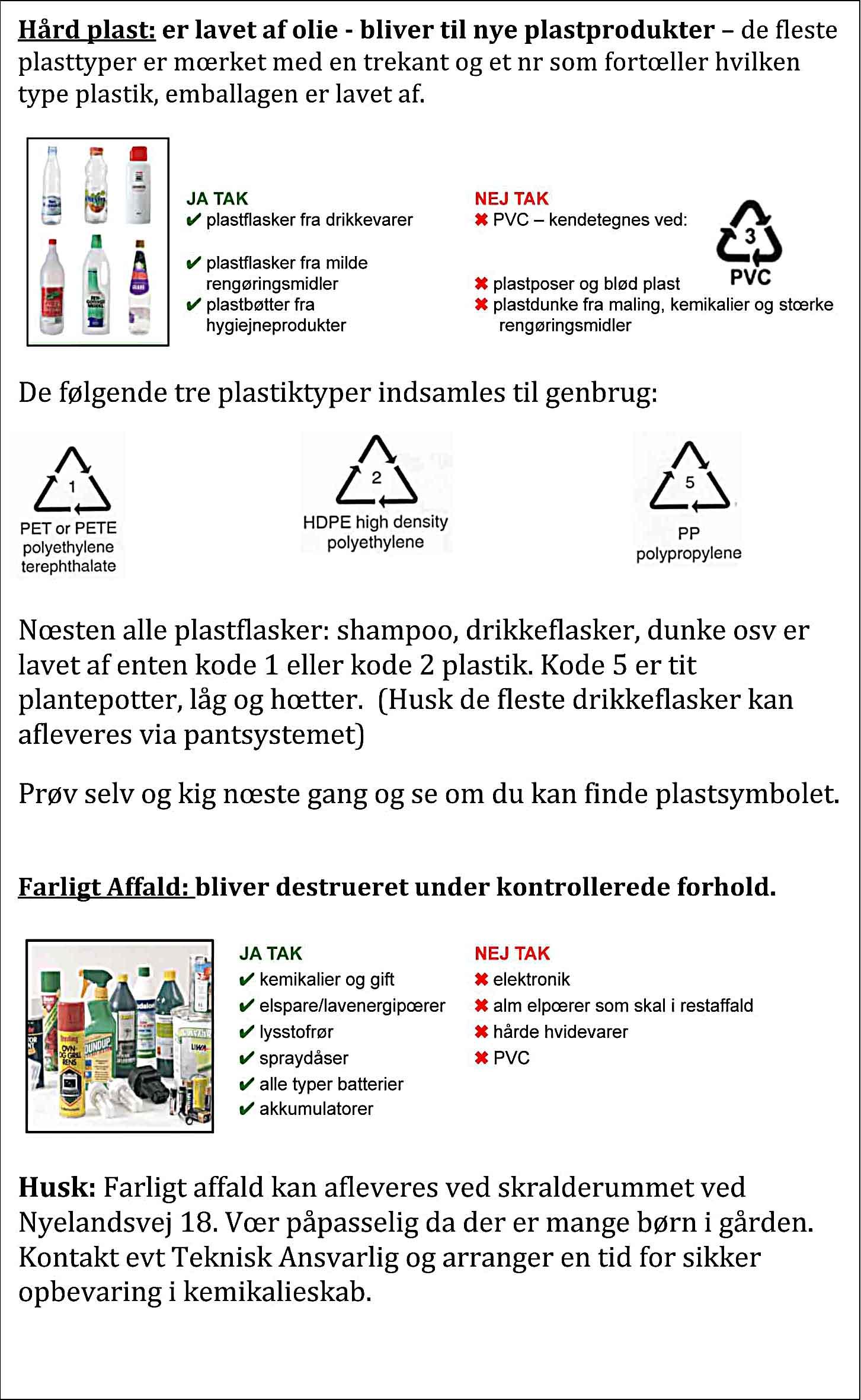Info om affaldshåndtering